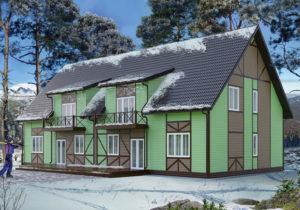 Готовый проект №45 недорогой, быстровозводимой, каркасной мини-гостиницы из СИП панелей (Новосибирск, Барнаул, Алтай, Кемерово)