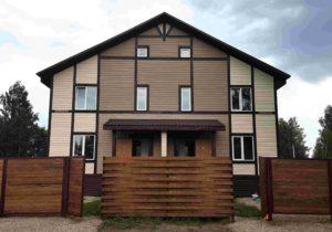"""Фото готового недорогого, быстровозводимого каркасный дом из СИП панелей на две семьи """"Под ключ"""" по проекту 34 (Новосибирск)"""