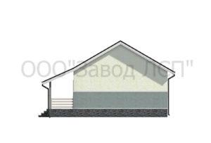 Фасад дома по готовому проекту №51 недорогого, каркасного дома на две семьи 127 м2 из СИП панелей с отделкой под ключ (Новосибирск, Томск, Барнаул, Алтай, Новокузнецк)
