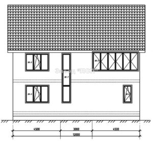 Готовый проект №30 недорогого, каркасного дома 168 м2 из СИП панелей с гаражом (Новосибирск, Томск, Барнаул, Алтай, Новокузнецк)
