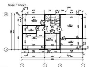 Планировка 2 этажа в готовом проекте № 30 недорогого, каркасного дома из СИП панелей с гаражом 168 м2 (Новосибирск, Томск, Барнаул, Алтай, Новокузнецк)