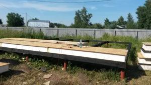 Монтаж СИП панелей пола первого этажа при строительстве дома (Новосибирск, Томск, Барнаул, Алтай, Новокузнецк)