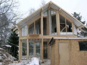 Строительство быстровозводимого, недорогого каркасного дома с большими окнами (Новосибирск, Барнаул, Томск, Новокузнецк, Алтай)