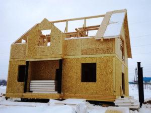 Фото строительства двухэтажного дома из СИП панелей (Новосибирск, Барнаул, Томск, Новокузнецк, Алтай)