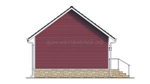Готовый проект №52 недорогого дома-студии из СИП панелей с отделкой под ключ сайдингом, 52 м2 (Новосибирск, Томск, Барнаул, Алтай, Новокузнецк)