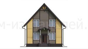 Готовый проект №53 классического, недорогого дома из СИП панелей с отделкой под ключ в стиле фахверк, 127 м2 (Новосибирск, Томск, Барнаул, Алтай, Новокузнецк)