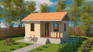 Маленький дачный домик из СИП панелей для летнего отдыха