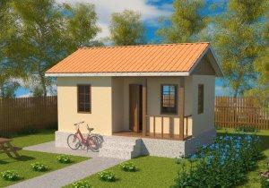 Проект недорогого, каркасного дачного дома из СИП панелей для летнего отдыха с отделкой под ключ