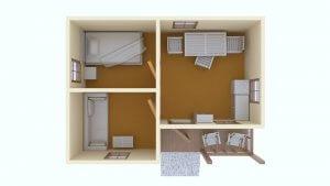 Проект планировки недорогого, каркасного дачного дома из СИП панелей для летнего отдыха