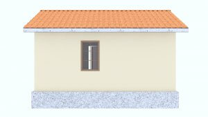 Фасад недорогого дачного дома под ключ из СИП панелей для летнего отдыха