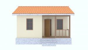 Фасад недорогого дачного дома из СИП панелей в комплектации под ключ для летнего отдыха