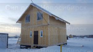 Фото готового недорогого, каркасного дома из СИП панелей по проекту №3, 91 м2 (Новосибирск, Томск, Барнаул, Алтай, Новокузнецк)