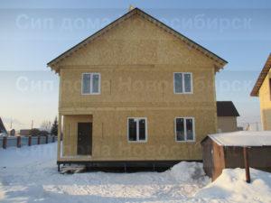 Фото готового недорогого, каркасного дома из СИП панелей по проекту №9, 138 м2 (Новосибирск, Томск, Барнаул, Алтай, Новокузнецк)