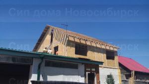 Фото строительства каркасной надстройки из СИП панелей для жилого дома (Новосибирск, Томск, Барнаул, Алтай, Новокузнецк)