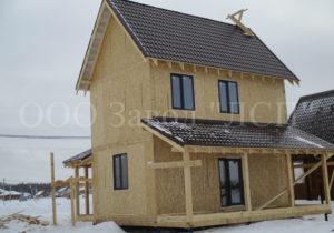 Фото дома из СИП панелей по готовому проекту № 49. Площадь 134 м2 при компактной площади застройки (Новосибирск)