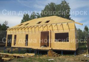 Фото строительства недорогого, каркасного дома из СИП панелей с мансардным этажом по проекту №40, 300 м2 (Новосибирск, Томск, Барнаул, Алтай, Новокузнецк)