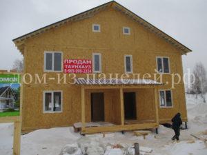 Фото строящегося каркасного дома на две семьи из СИП панелей по проекту 34, 181 м2 (Новосибирск)