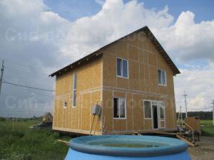 Фото готового, классического, недорогого, каркасного дома из СИП панелей по проекту 39, 149 м2 (Новосибирск)