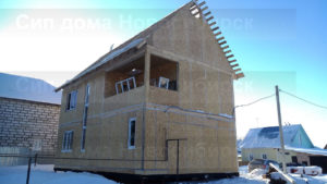 Фото готового недорогого, каркасного дома из СИП панелей по проекту №30, 168 м2 (Новосибирск, Томск, Барнаул, Алтай, Новокузнецк)